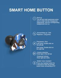 Sabbat e12 Ultra Caribbean Music 5.0 Bluetooth Headset Earbuds Camouflage Pattern Fashion 6