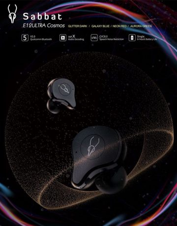 True Wireless Headphones Earphones Sabbat E12 Ultra Cosmos Series