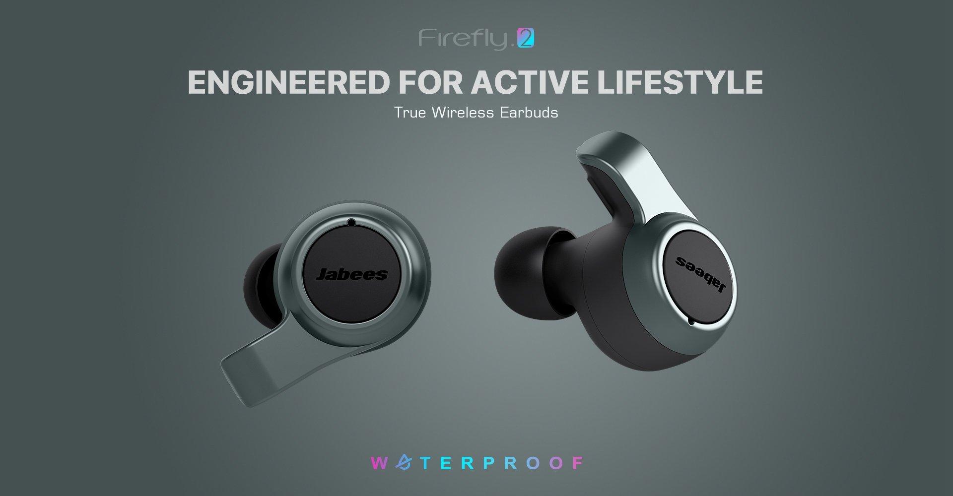 Jabees Firefly 2 Black Touch TWS Earbuds Waterproof & Dustproof IPX7 1