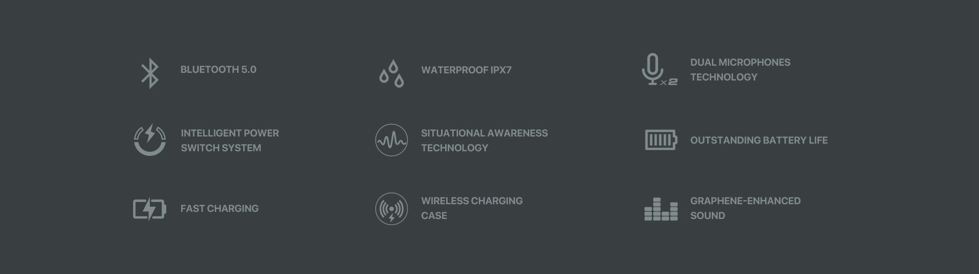 Jabees Firefly 2 Black Touch TWS Earbuds Waterproof & Dustproof IPX7 2