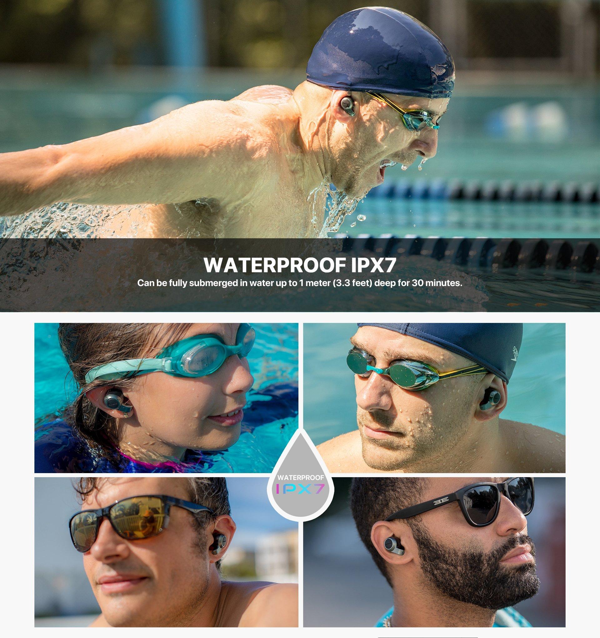 Jabees Firefly 2 Black Touch TWS Earbuds Waterproof & Dustproof IPX7 3