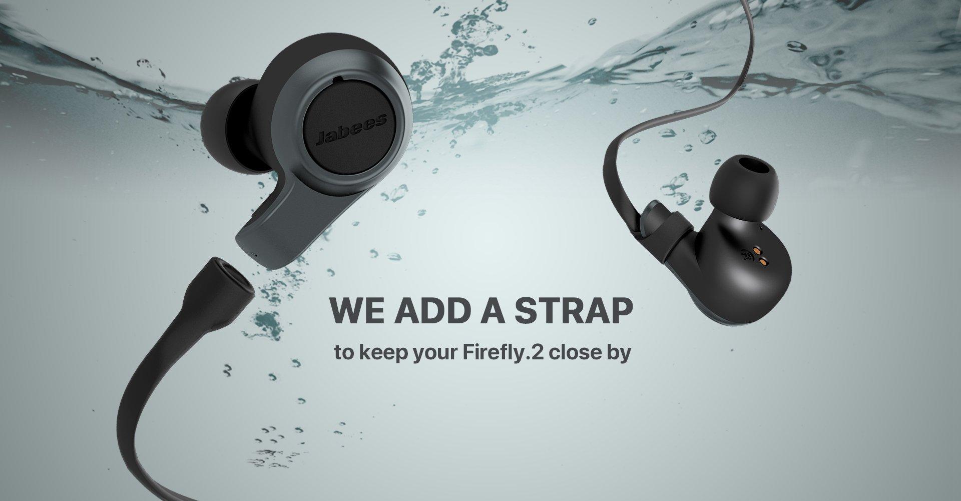 Jabees Firefly 2 Black Touch TWS Earbuds Waterproof & Dustproof IPX7 4