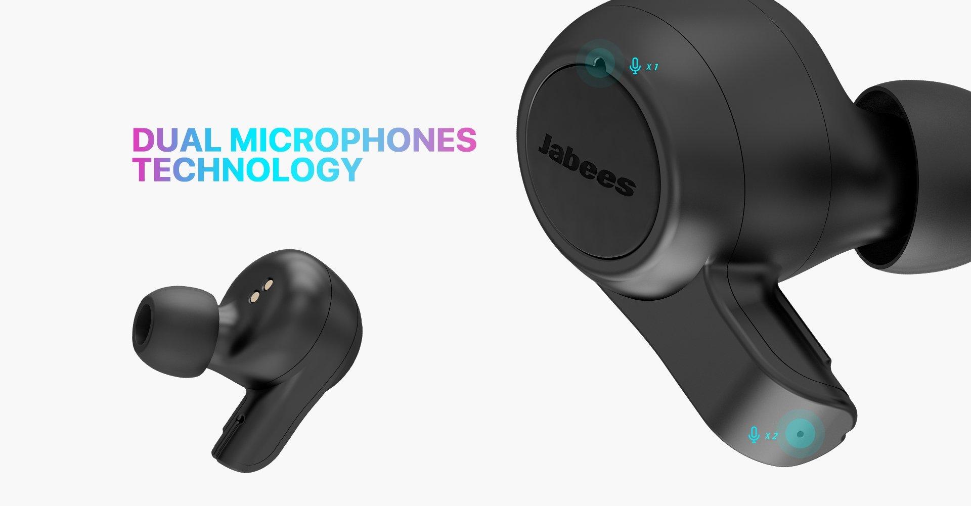 Jabees Firefly 2 Black Touch TWS Earbuds Waterproof & Dustproof IPX7 9