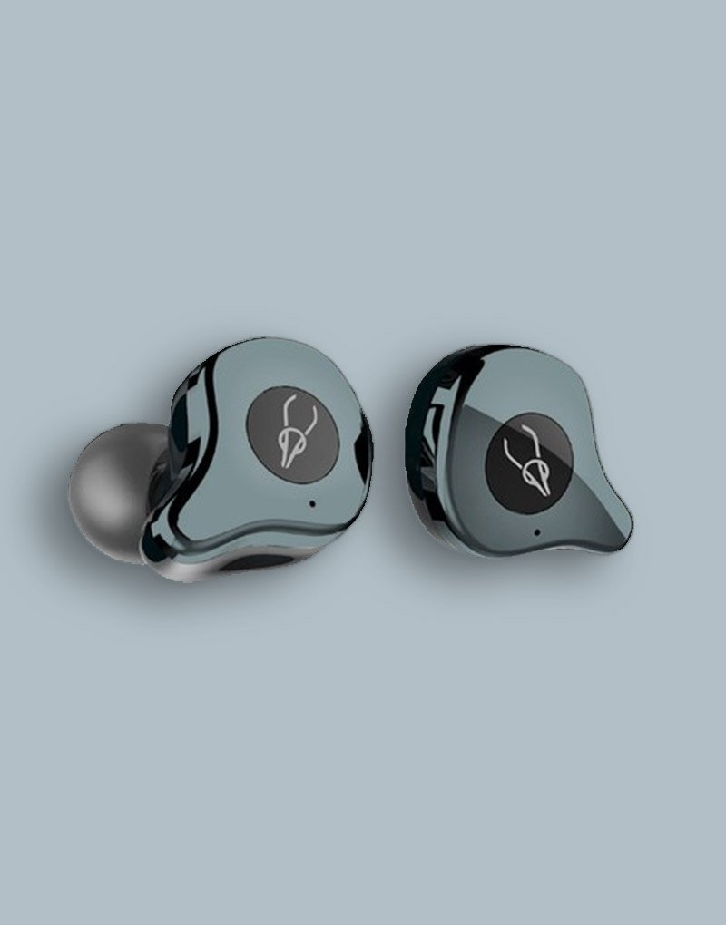 Sabbat e12 Ash Green APTX wireless earbuds with extremely powerful 10mm speakers 1