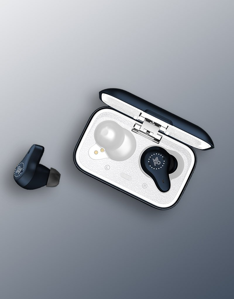 MIFO O7 blue indigo bluetooth earbuds 1